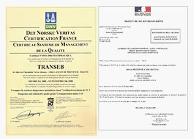 Nos certifications relatives au transport de classe 7